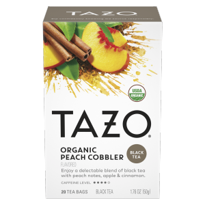 TAZO tea Organic Peach Cobbler 20 PC