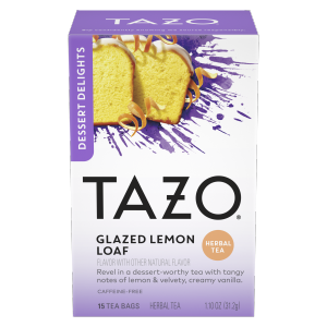 TAZO Tea Glazed Lemon Loaf 15 PC