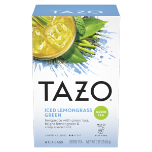 TAZO Iced Tea Lemongrass Green 6 PC