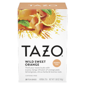 Tazo Wild Sweet Orange Tea Bags Herbal Tea 20ct