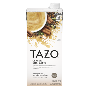 Tazo Organic Chai Latte Concentrate Black Tea 32 oz, 3 count