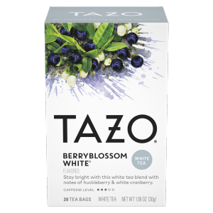 Tazo Tea Bag Berry Blossom White 20 CT