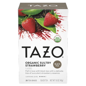 Tazo Organic Sultry Strawberry Tea Bag 20 CT