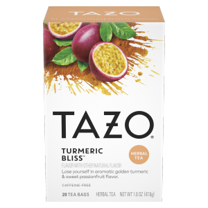 Tazo Turmeric Bliss Tea Bags Herbal Tea 20 ct