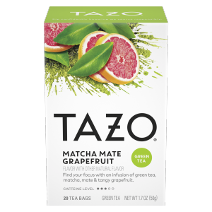 Tazo Tea Bags Matcha Mate Grapefruit Green 20 ct