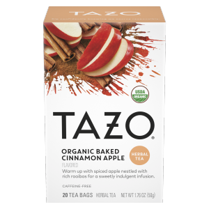 Tazo Tea Bag Organic Baked Apple Cinnamon 20 CT