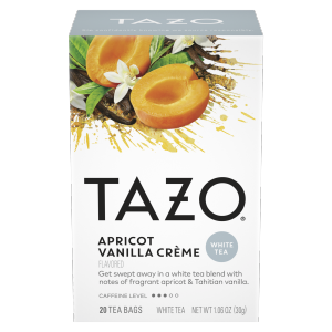 Tazo Tea Bag Vanilla Apricot White 24 CT
