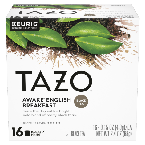 TAZO Awake English Breakfast K-Cup pods 16CT