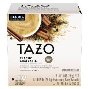 Tazo Tea CUP Classic Chai Latte 9 PC