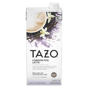 Tazo London Fog Latte Concentrate 32oz Carton