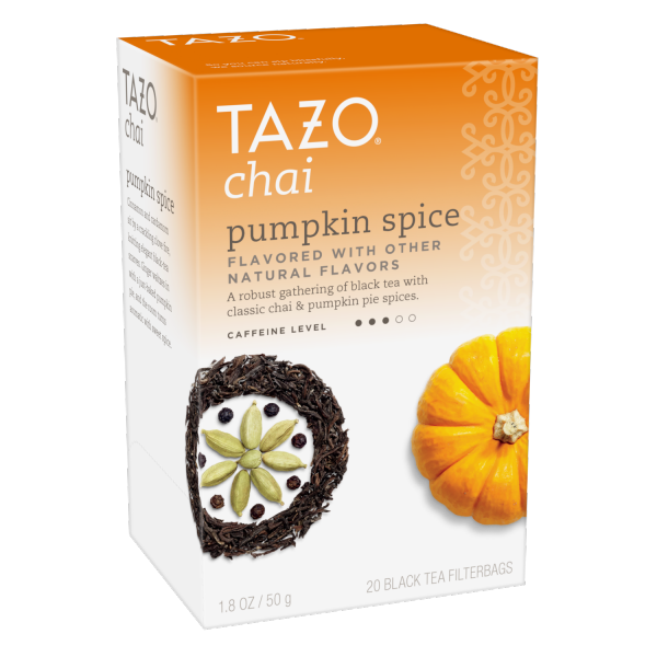 Tazo Tea Bag Iced Pumpkin Chai 20 CT