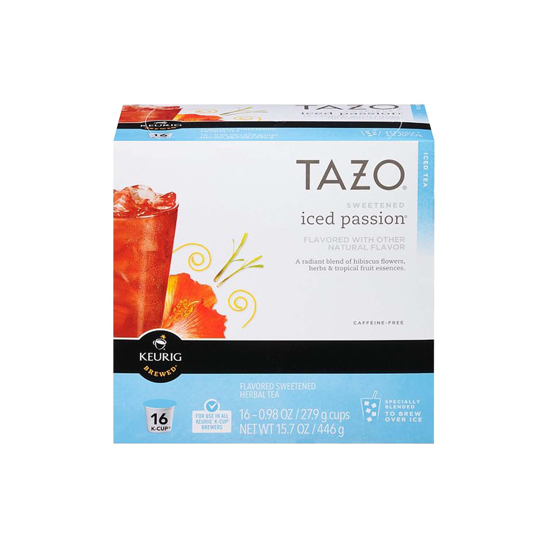 Iced passion herbal tea k cup pods tazo tea izmirmasajfo