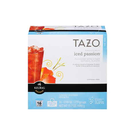 Tazo Iced Passion K-Cup Pods 16CT