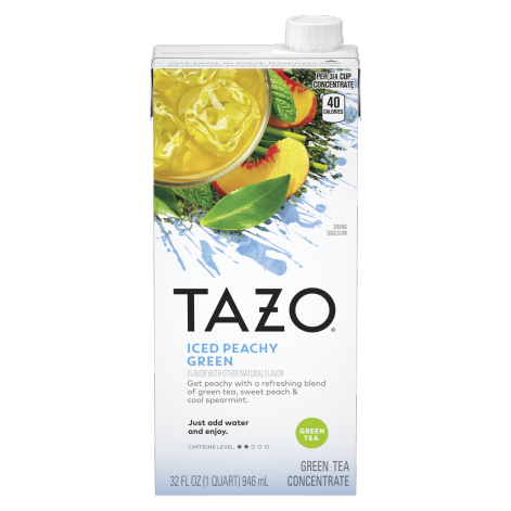 TAZO Iced Peachy Green Concentrate 32OZ