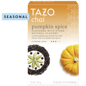 Tazo Chai Pumpkin Spice Tea Bags Black Tea 20 ct