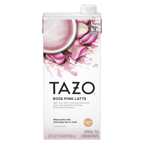 TAZO Rose Pink Latte 32OZ